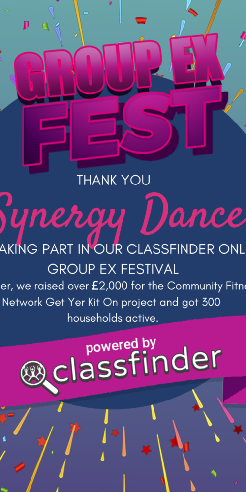 Synergy Dance Fundraising Certificate
